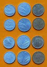 Repubblica Italiana 5 Lire x 2 + 10 Lire x 2 + 20 Lire x 2 anno 1971