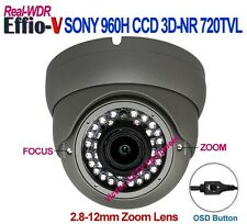 1/3 SONY 960H CCD Effio-V WDR 3D-NR Night Vision 2.8-12mm Vari-Focal CCTV CAMERA