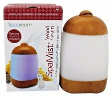 SpaRoom SpaMist Wood Grain Ultrasonic Aromatherapy Spa Essential Oil Diffuser