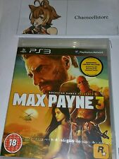 MAX PAYNE 3 PS3 New Sealed UK PAL Version Game Sony PlayStation 3 Black Label