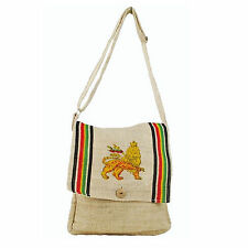 Lion Of Judah Hemp Boho Rastafari Rasta Shoulder Bag Reggae Marley Hawaii IRIE