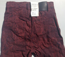 NEW - RRP $269 - Womens Stunning Nobody 'CULT SKINNY HIGH RISE' Bordeaux Jeans