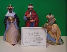 LENOX Nativity MIRACLE IN BETHLEHEM THE THREE KINGS NEW in BOX COA Lynn Bywaters
