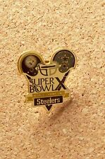 Super Bowl X 10 Champions Pittsburgh Steelers Dallas Cowboys small pin