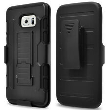 Armor Hybrid Rugged Hard Holster + Belt Clip Case Stand Cover Fr Galaxy S7 edge