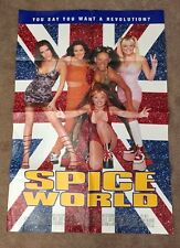 SPICE GIRLS Spice World Original MOVIE POSTER NM (Folded) VERY RARE Double sided