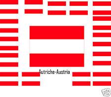 Assortiment lot de10 autocollants Vinyle stickers drapeau Autriche-Austria