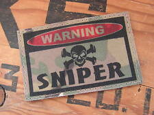 Patch velcro ..:: WARNING SNIPER ::.. AIRSOFT PAINTBALL US MULTICAM