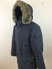 Men CARHARTT PARKA Grey Hooded Jacket M Medium
