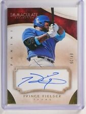 2014 Panini Immaculate Collection Prince Fielder autograph auto #D04/25 *51787