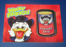 WACKY PACKAGES ANS11 RARE PATCH CARD QUACKER OATS IN EXCELLENT CONDITION