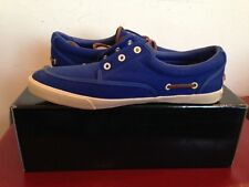 BNIB MEN/BOYS LYLE & SCOTT CANVAS BOAT PUMP ROYAL BLUE SIZE 8 RRP £60