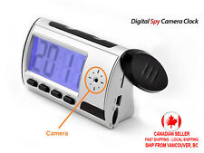 Spy Camera Clock with Motion Detection Voice & Video Recorder Digital Alarm etc