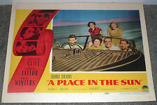 A PLACE IN THE SUN original 1951 lobby card ELIZABETH TAYLOR/MONTGOMERY CLIFT