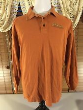 Mens HARLEY DAVIDSON Best Little Harley Shop In Ga. XL Rusty Orange Shirt