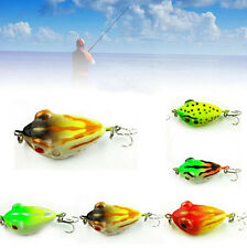 3pcs Hook Frog 4cm/6g Weedless Topwater Baits Rubber Fishing Lures Large