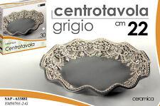 CENTRO TAVOLA TONDO IN CERAMICA GRIGIO Ø 22 CM SAP-633881