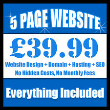 5 PAGES BESPOKE WEBSITE WEB DESIGN PERSONAL OR BUSINESS