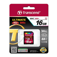 Transcend 16GB SDHC SD Class 10 Memory Card FullHD UHS-I 90MB/s 600X