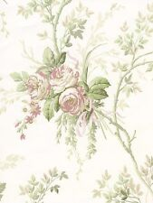 Soft Pastel Feminine Floral Trail Wallpaper Double Roll Bolts FREE SHIPPING
