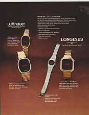 VINTAGE AD SHEET #2335 - LONGINES & WITTNAUER WATCHES