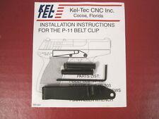 Kel-Tec Belt Clip Kit for the P-11 Pistol - Right Hand - Blued