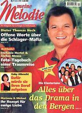 Zeitschrift MEINE MELODIE,  Nr. 7 v 2000, Titelseite Klostertaler; Schlagermafia