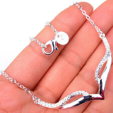 Faddish  Mask Shaped Pretty Women's 925 Sterling Silver Necklace Jewelry H1087