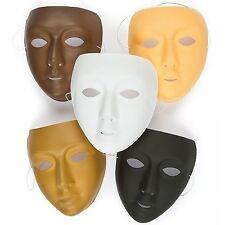 Máscara Facial multicultural plástico Paquete de 10