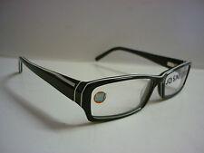 Genuine Designer Glasses Frames By Conflict Whatev Black / White Chunky ref: 607