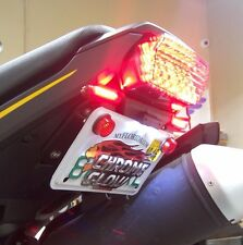 Honda Grom MSX125 SS Fender Eliminator Kit w/ Amber LED Turn Signals - Smoke