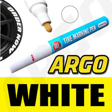 WHITE TYRE TIRE MARKER MARKING PAINT PEN WATER PROOF FIAT 500 POP ABARTH