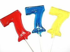 12 LARGE NUMBER LOLLIPOPS ~ HARD CANDY
