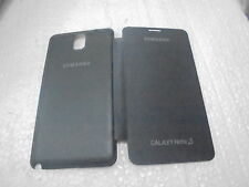 for samsung galaxy note3 n9000 n9005 flip case back cover new black 1+1 free