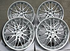 "18"" CRUIZE 190 ALLOY WHEELS STAGGERED DEEP DISH SILVER POLISHED 18 INCH ALLOYS"