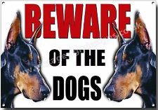 A4 SIZE DOBERMAN BEWARE OF THE DOGS METAL SIGN,SECURITY,WARNING,GUARD DOG SIGN.