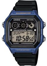 Casio AE1300WH-2A Men's World Time Alarm Chrono Referee Countdown Timer Watch