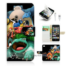 iPhone 5 5S Print Flip Wallet Case Cover! Pokemon Picachu P0253
