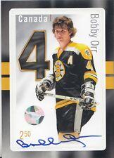2015 NHL Canada Post Hockey Stamp/ Card AUTO Bobby Orr AUTO COA Hologram