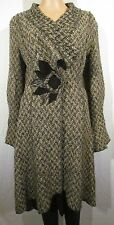 Fantastic Quirky Lagenlook Wool Blend Long Cardigan/Coat Size 10 by Per Una