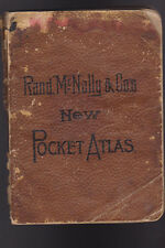 Rand McNally & Co New Pocket Atlas 1893 170 pages