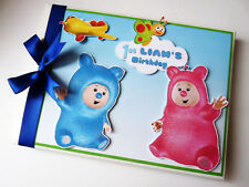 PERSONALISED BILLY BAM BAM BOY FIRST/1ST BIRTHDAY GUEST BOOK ANY DESIGN