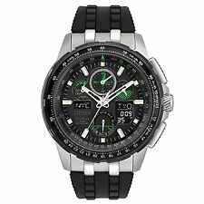Citizen Skyhawk A-T Chronograph Perpetual Black Silicone Men's Watch JY8051-08E