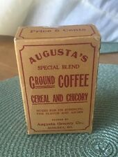 Vintage1920's Augusta's Special Blend Ground Coffee Cereal and Chicory Spice Box