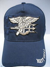 U.S Navy Seals Cap/Hat w/Shadow & Insignia Blue Military Free Shipping
