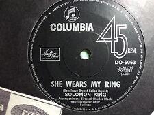 """Solomon King """"She Wears My Ring"""" Great Oz 7"""""""