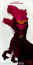 Jurassic Park 3 World T-Rex Isla Nublar InGen art print movie poster dna