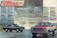 1983 2 Page Print Ad of Dodge Ram D100 & D150 Pickup Truck