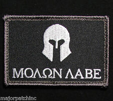 MOLON LABE SPARTAN USA ARMY US MORALE BADGE SWAT VELCRO® BRAND FASTENER PATCH