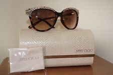 BRAND NEW JIMMY CHOO SUNGLASSES INES/S DARK HAVANA WITH BROWN GRADIENT LENS